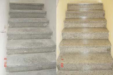 Terrazzo Treppenstufen geschliffen und imprägniert