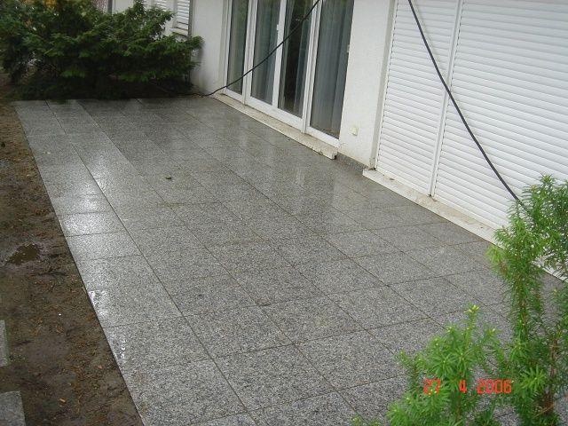 Reinigung von Granit nachher
